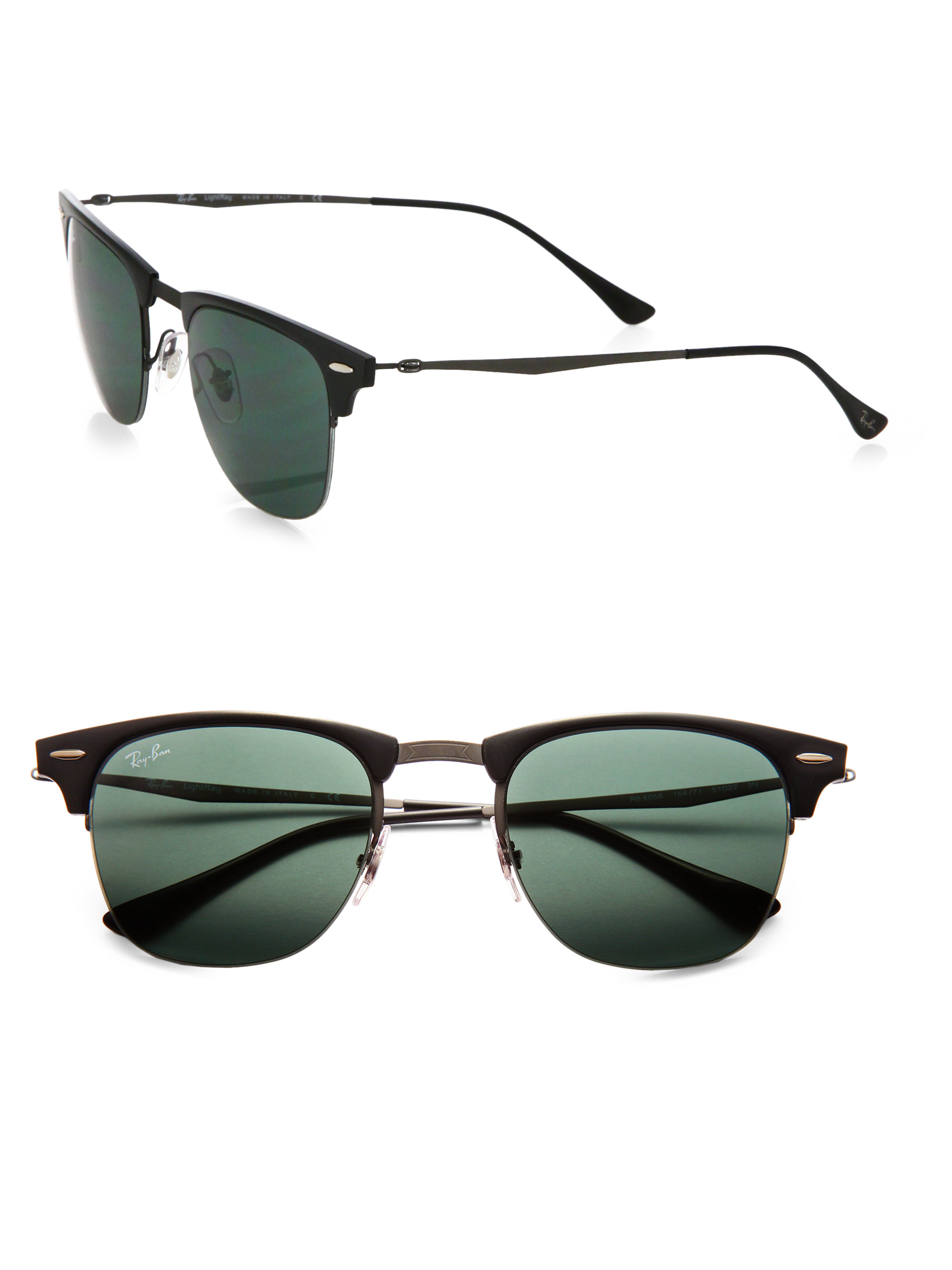 b7231b8850 Lyst - Ray-Ban Classic Clubmaster 51mm Sunglasses in Green for Men
