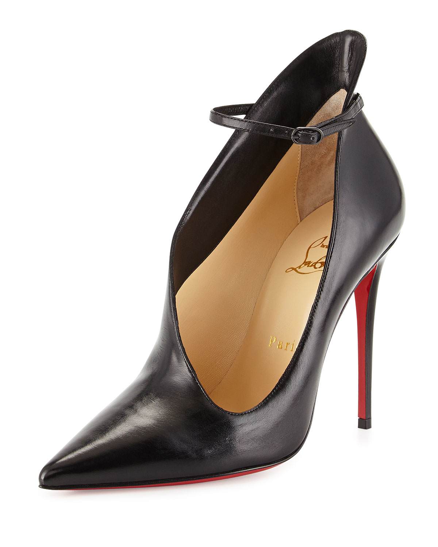 louboutin black spikes - christian louboutin milla metallic strappy red sole bootie ...