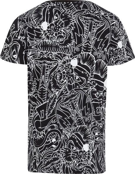 Snake Print Shirt Mens Viper Snake Print T-shirt