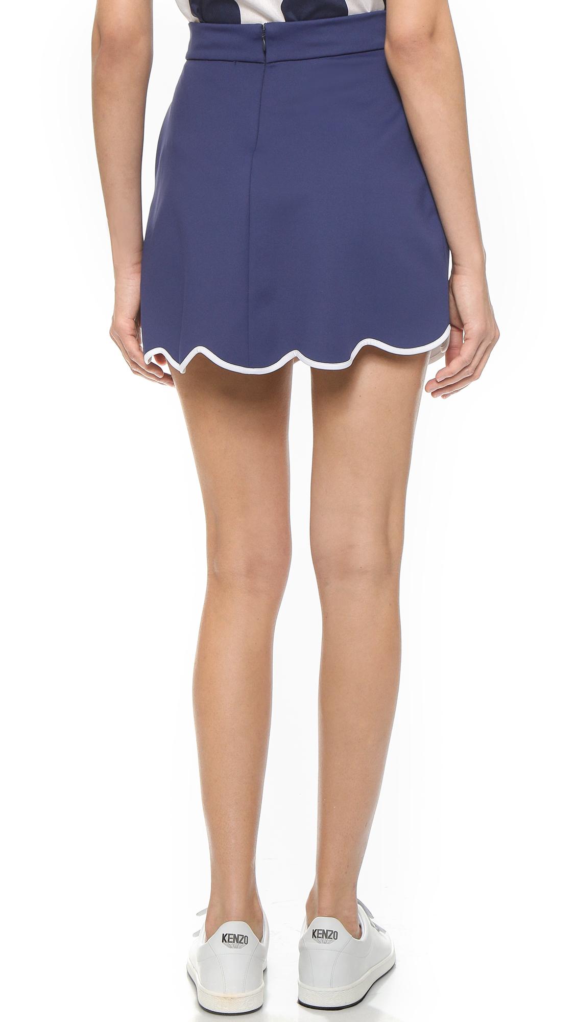 kenzo jersey skirt in blue lyst