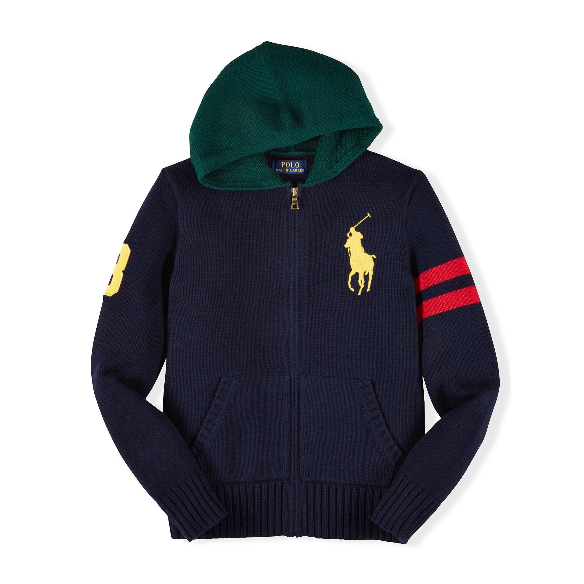 Ralph lauren Big Pony Cotton Hooded Sweater for Men | Lyst
