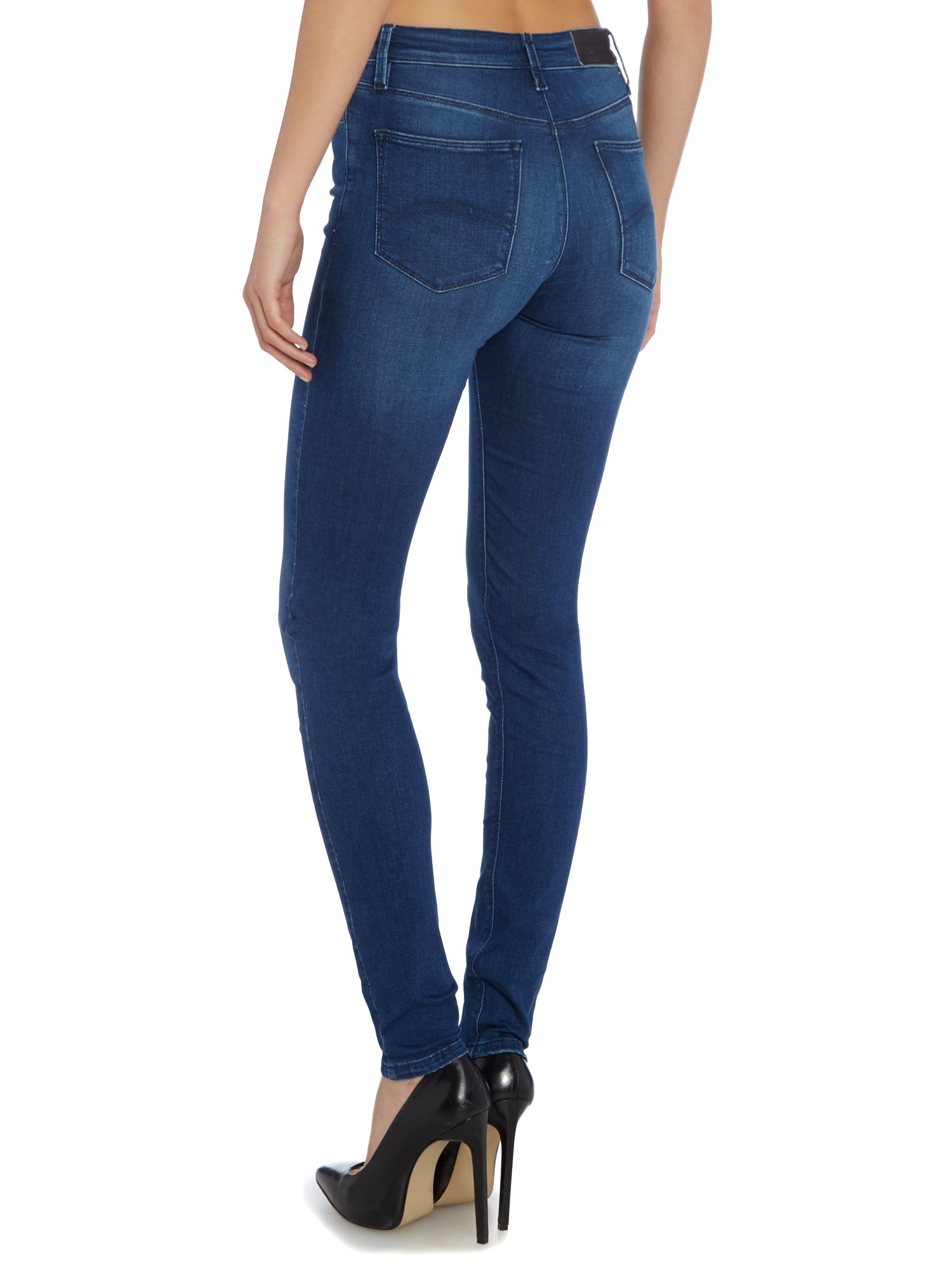 tommy hilfiger santana skinny fit jeans in blue lyst. Black Bedroom Furniture Sets. Home Design Ideas