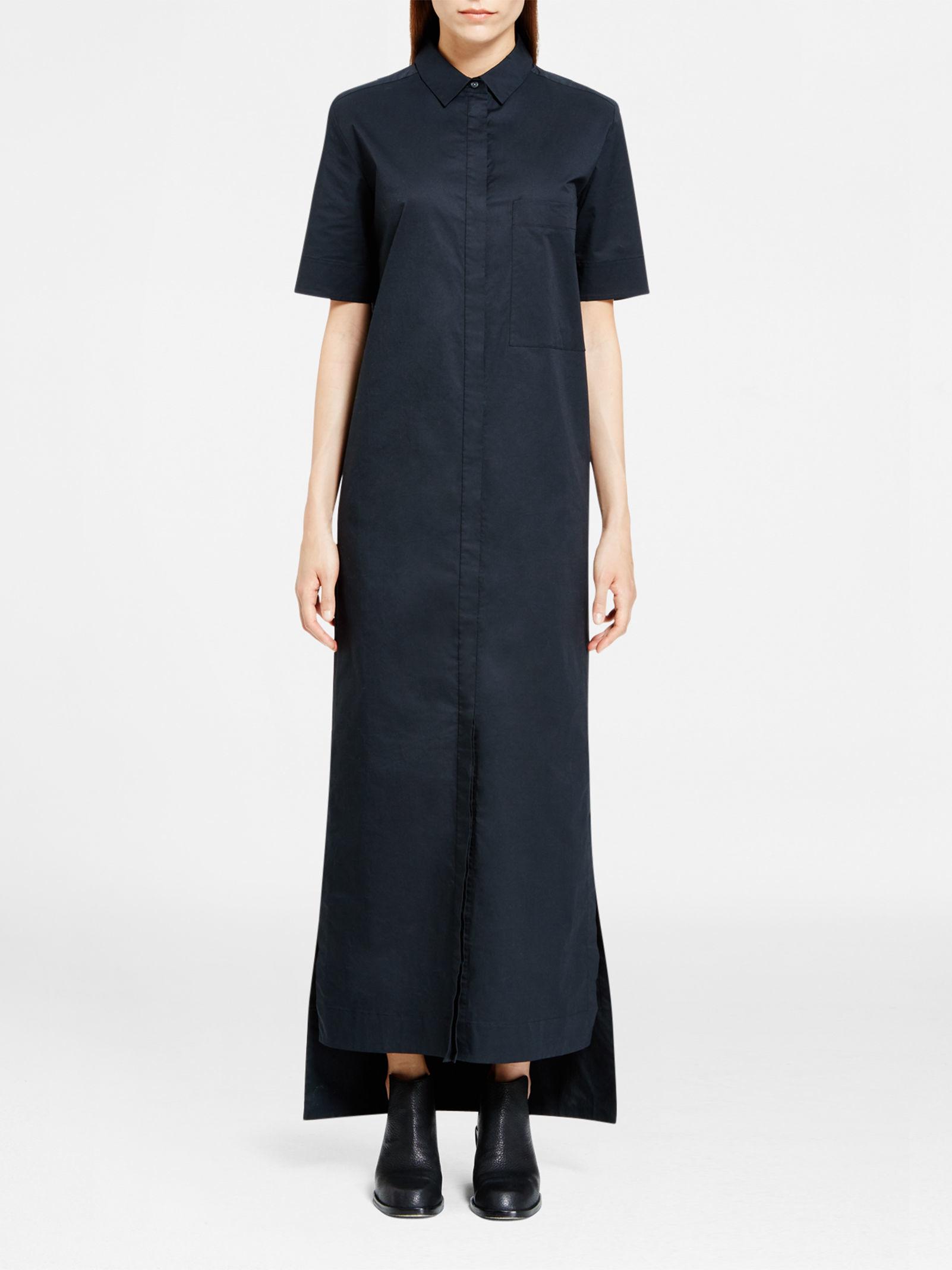 Dkny Pure Maxi Shirt Dress In Black Lyst