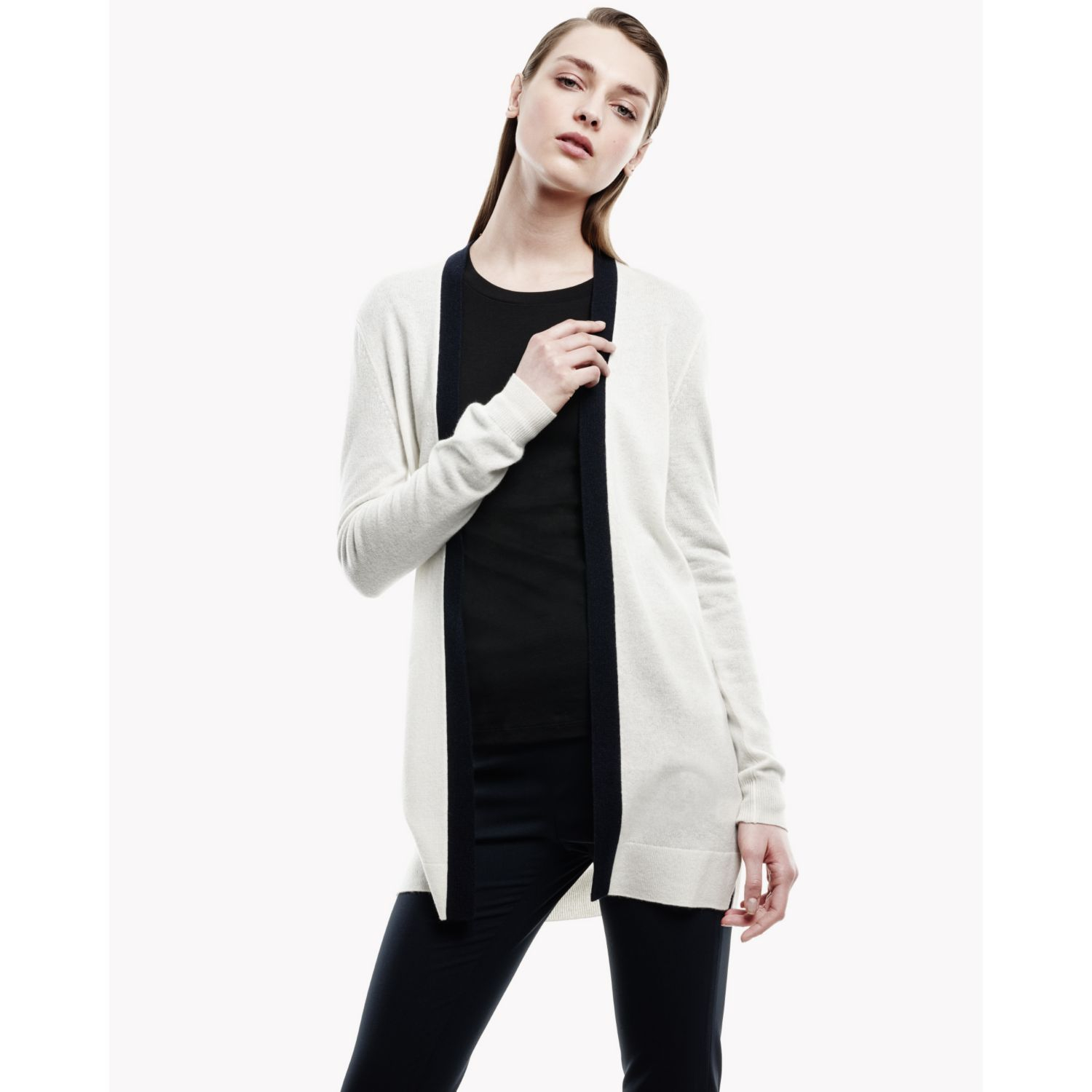 Theory Ambrel Cardigan In Cashmere in White | Lyst