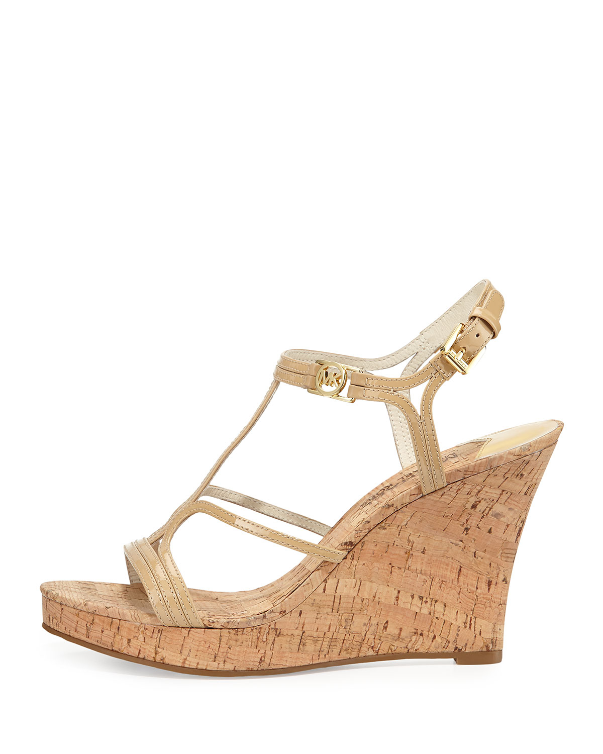 1948f92528 MICHAEL Michael Kors Cicely Wedge Sandal in Natural - Lyst