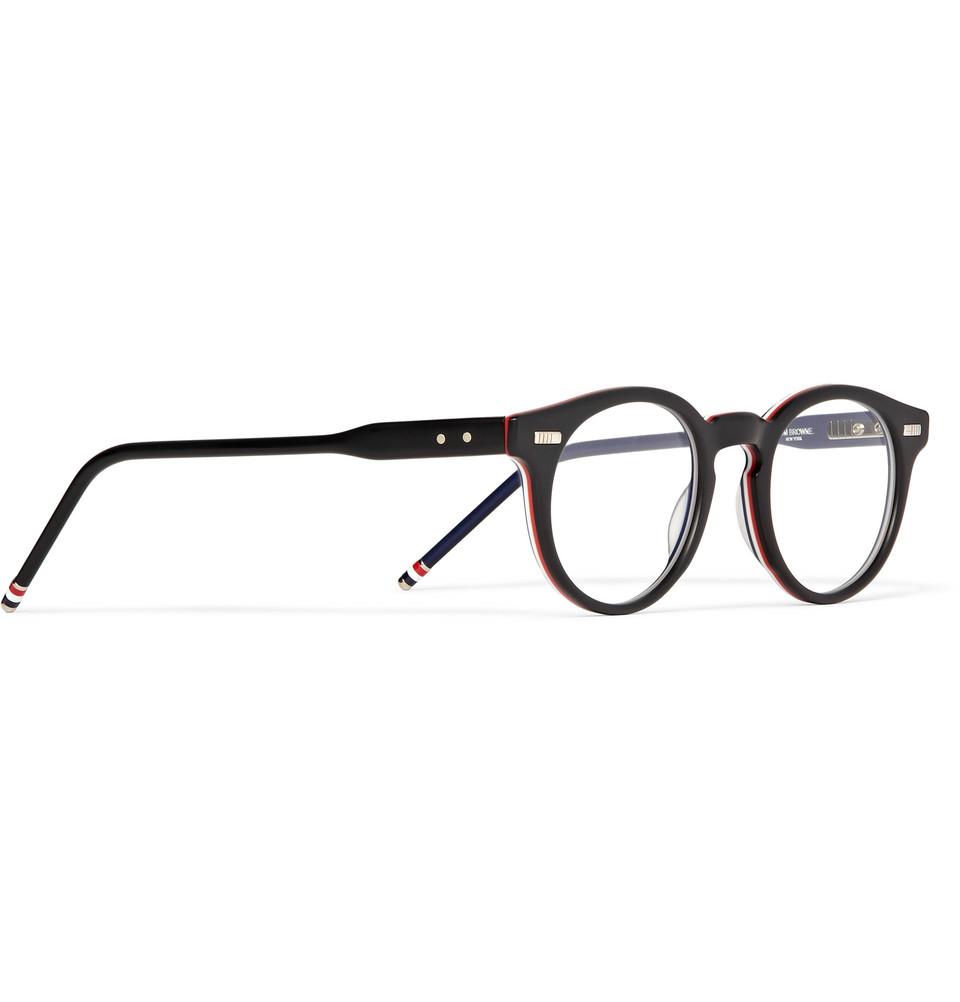 ad8f98002ae0 Thom Browne Roundframe Acetate Optical Glasses in Black for Men - Lyst