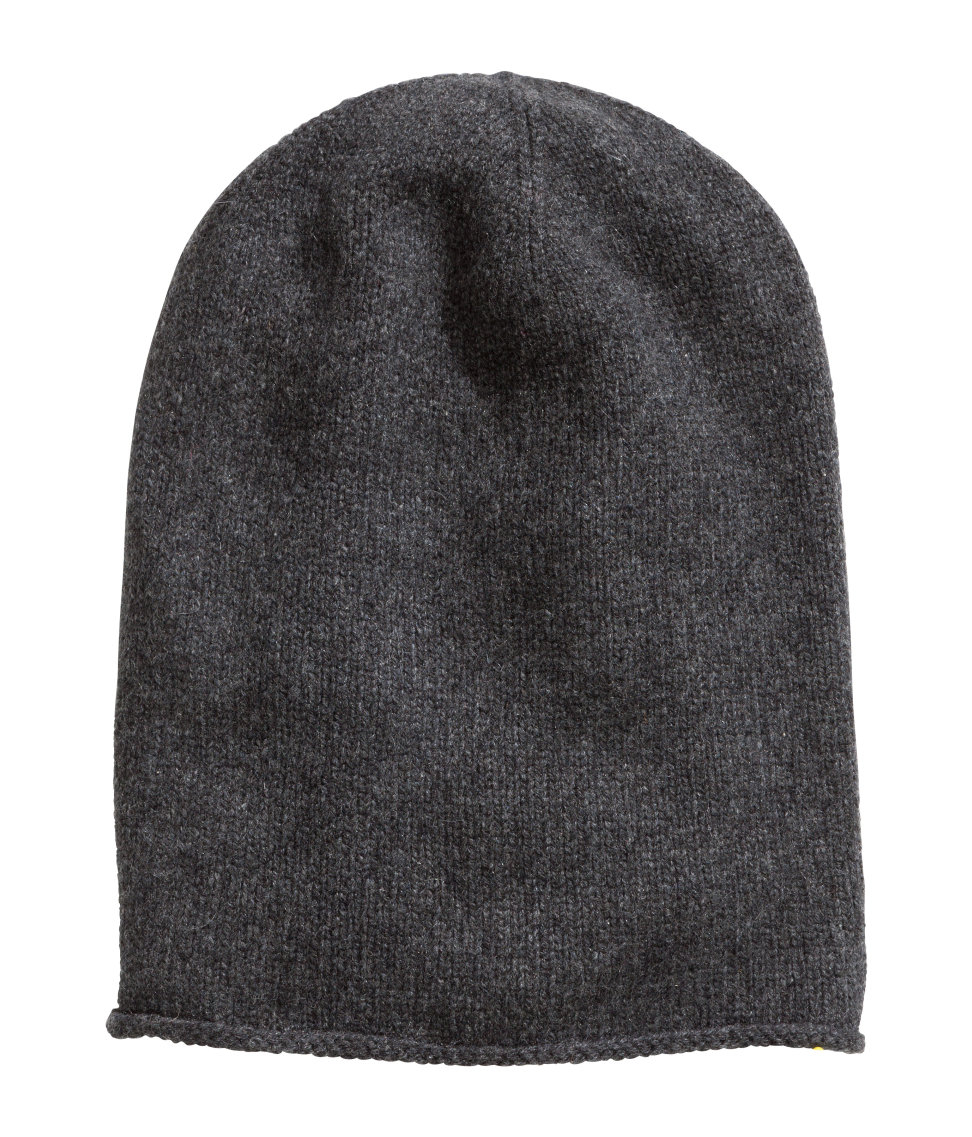 9f4f275c6 H&M Cashmere Hat in Gray - Lyst