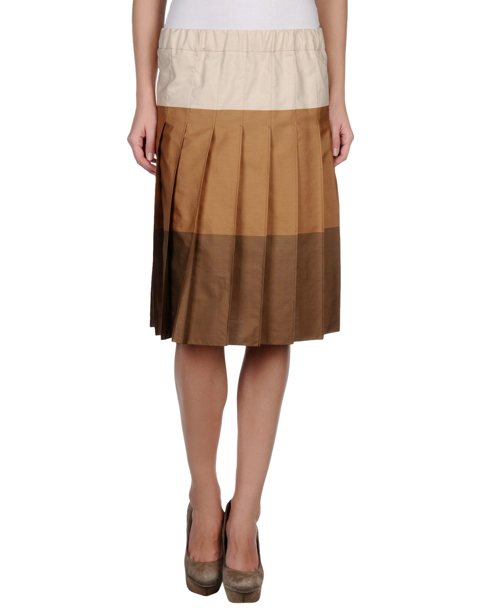marni knee length skirt in multicolor lyst
