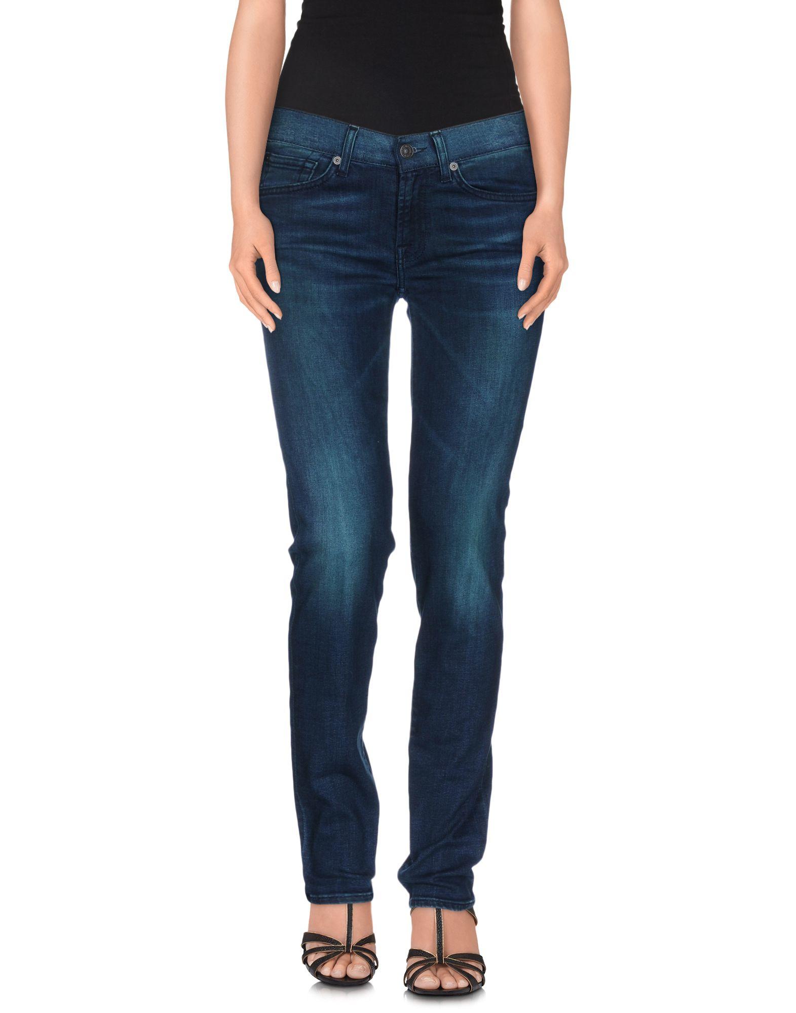 7 for all mankind denim pants in blue lyst. Black Bedroom Furniture Sets. Home Design Ideas