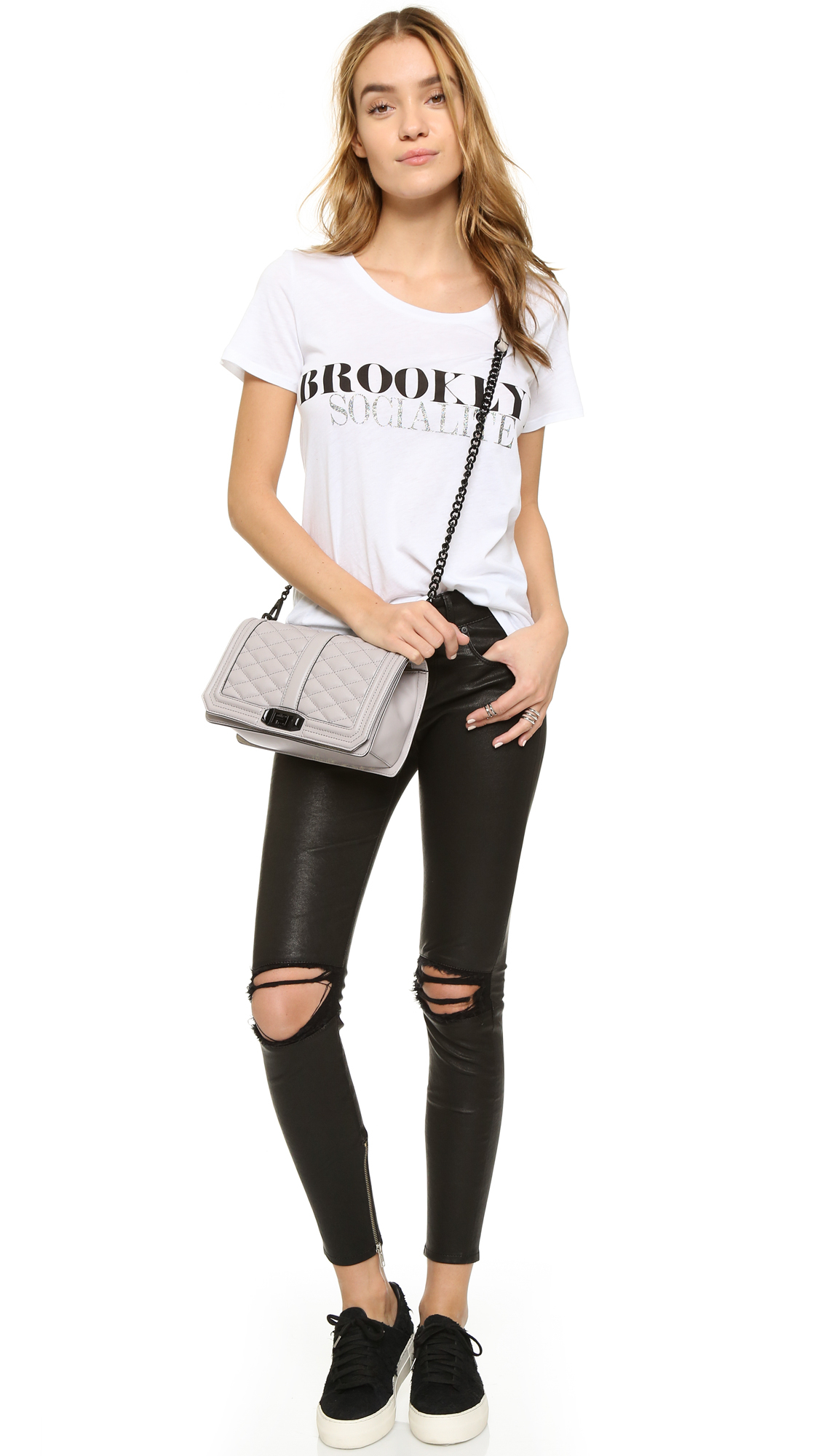 Rebecca Minkoff Love Cross Body Bag In Metallic Lyst