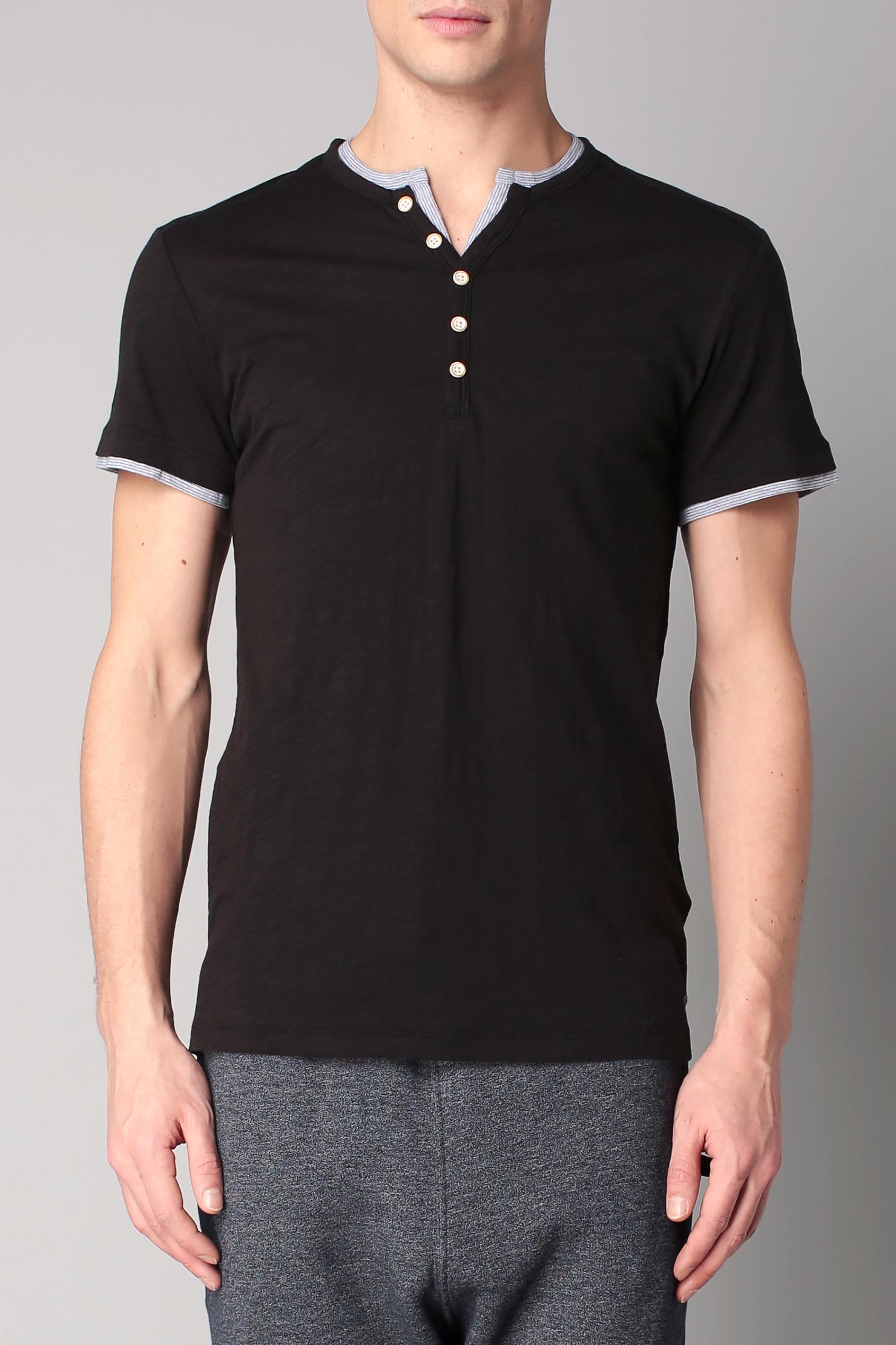 esprit short sleeve t shirt in black for men lyst. Black Bedroom Furniture Sets. Home Design Ideas