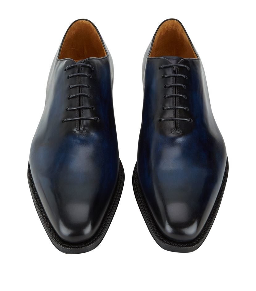 Sutor Mantellassi Oliver Whole Cut Leather Lace-up in Blue for Men