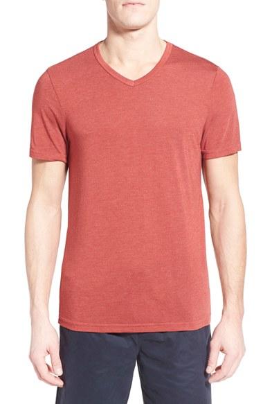Michael stars v neck t shirt in red for men lyst for Michael stars tee shirts