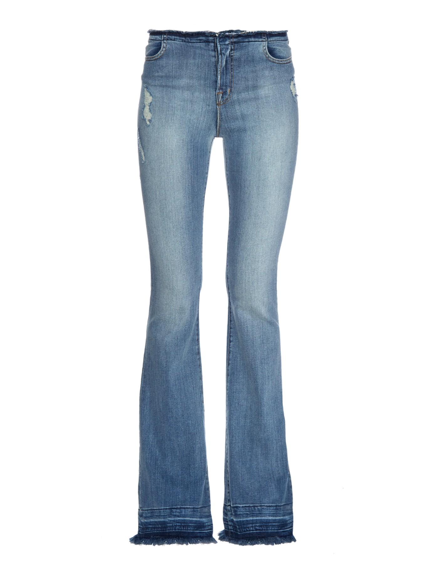 j brand maria high rise flared jeans in blue lyst. Black Bedroom Furniture Sets. Home Design Ideas