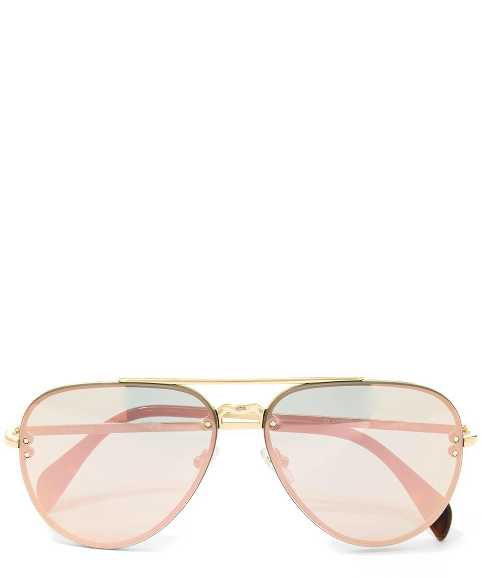 1eaa5cbc4129 Céline Gold Metal Aviator Sunglasses in Metallic - Lyst
