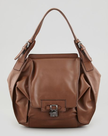 Kooba Valerie Flapfront Shoulder Bag Luggage in Brown (LUGGAGE)