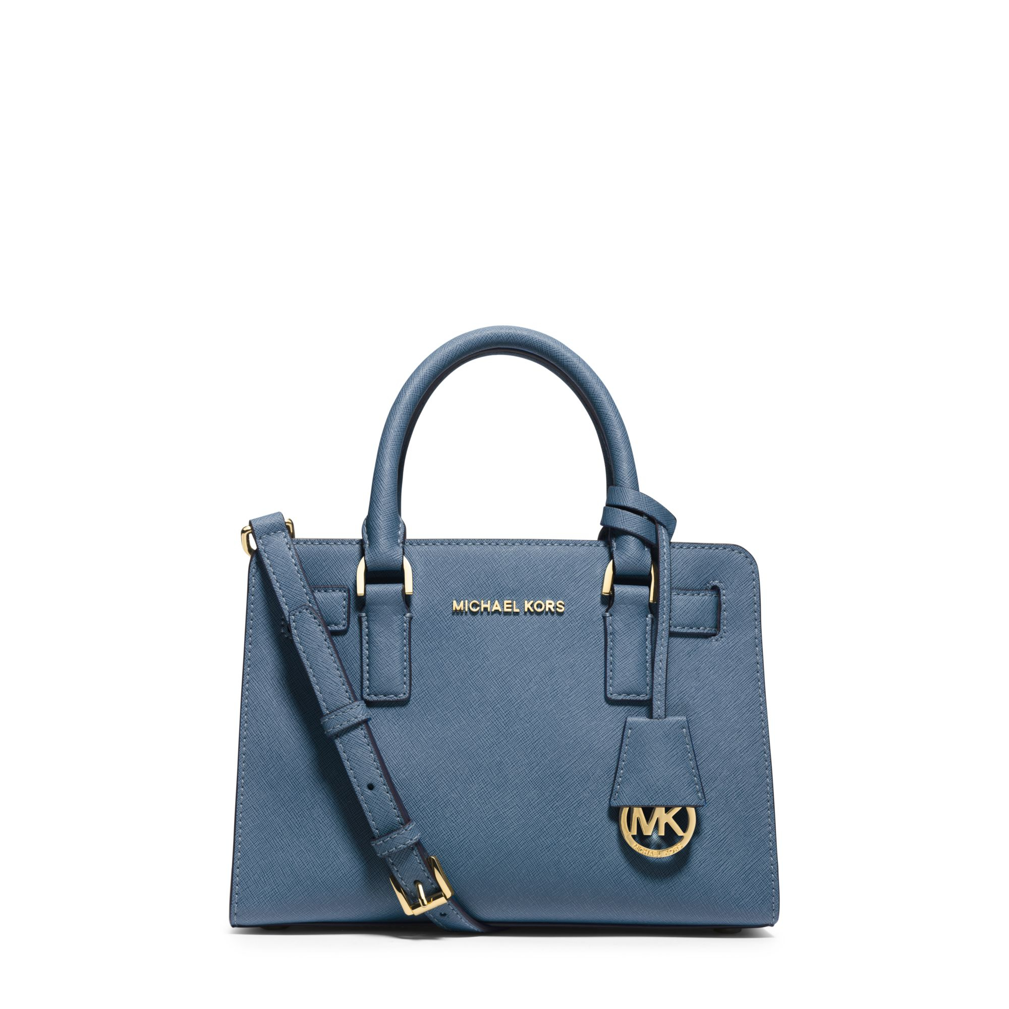 michael kors dillon small saffiano leather satchel in blue. Black Bedroom Furniture Sets. Home Design Ideas