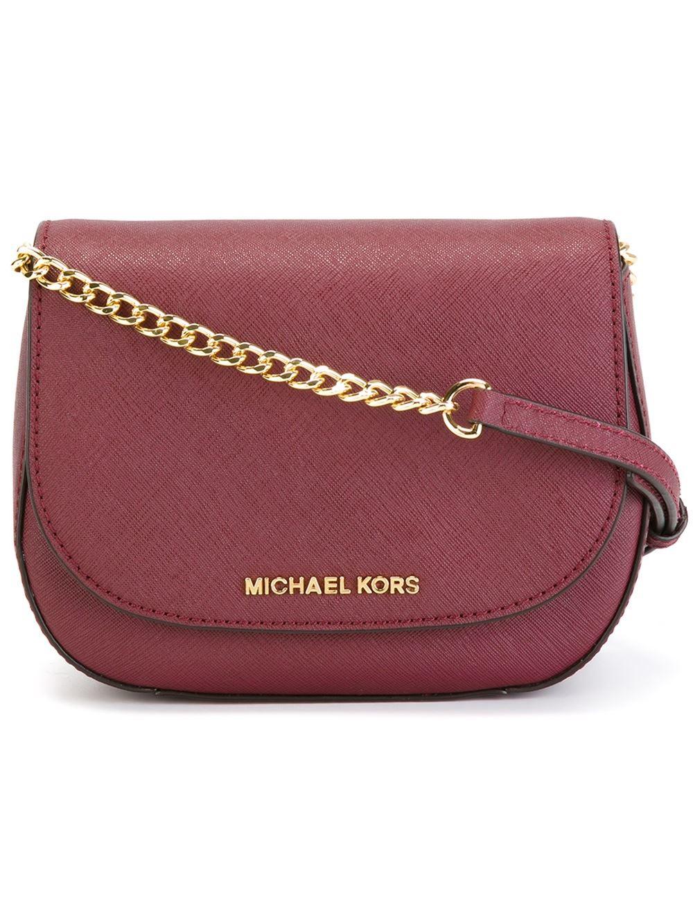 500c0a048078 ... promo code michael michael kors small bedford cross body bag in pink  lyst 8cd39 95e0f