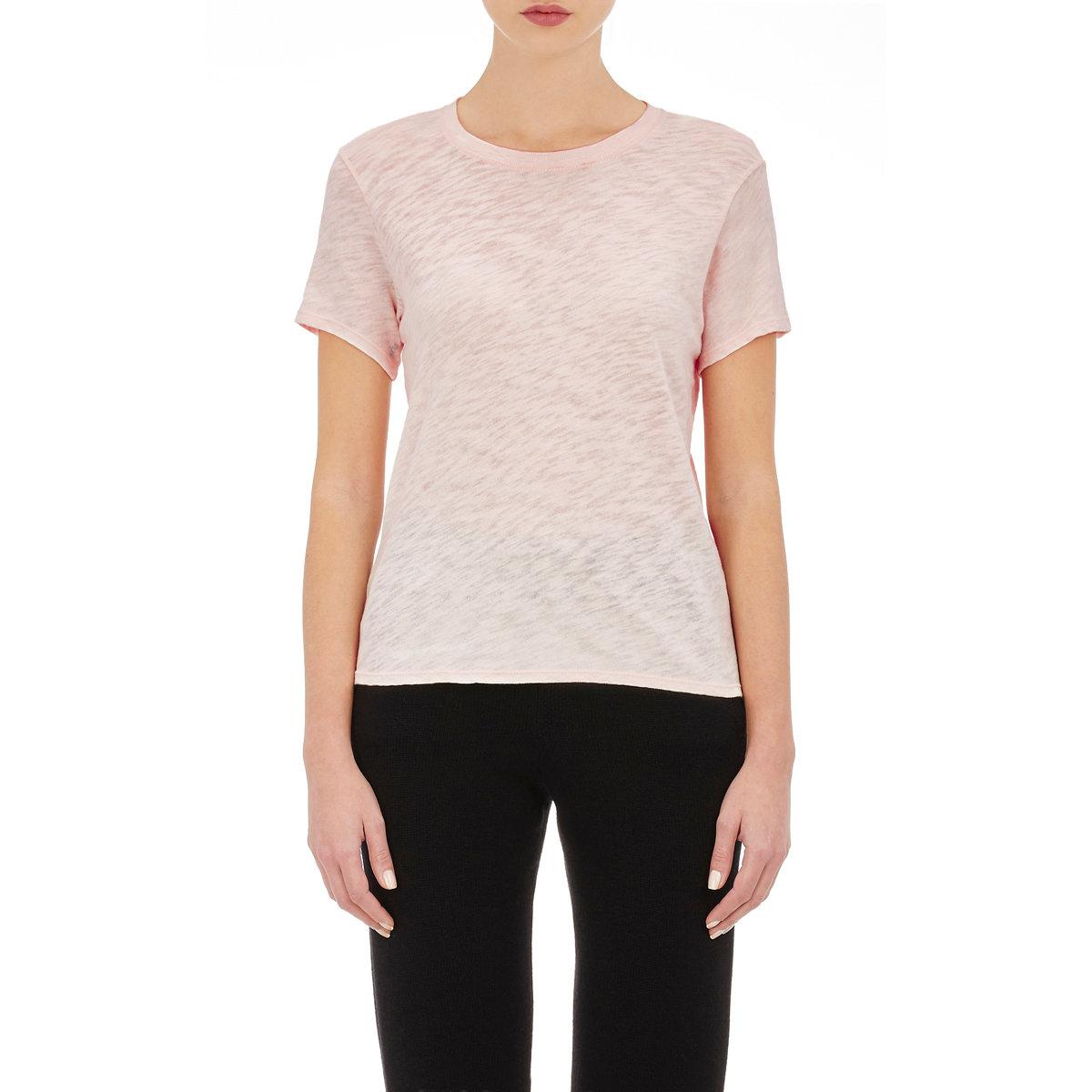 Atm women 39 s slub schoolboy t shirt in white lyst for Atm t shirt sale