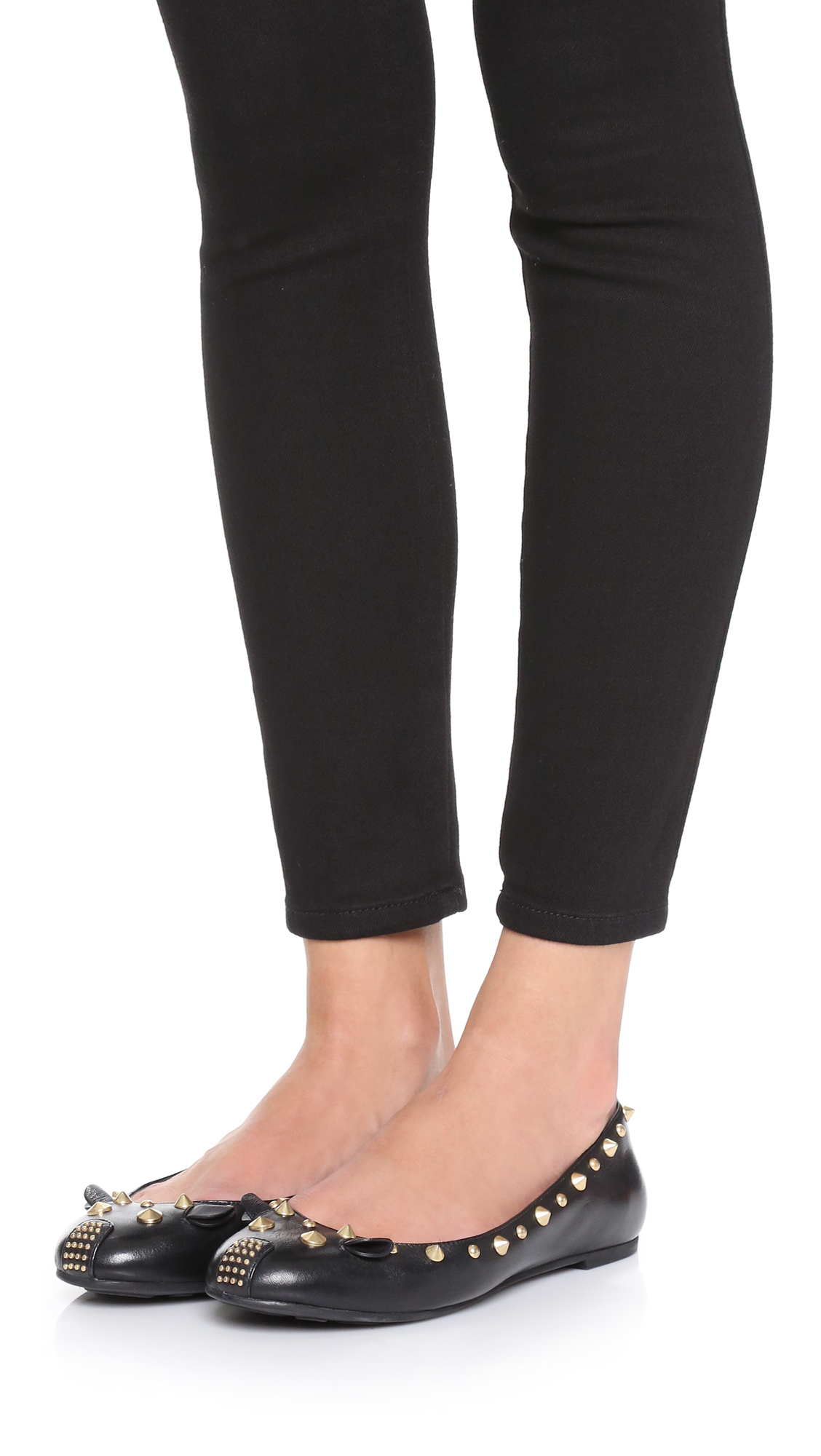 a9119e947ea9a Lyst - Marc By Marc Jacobs Punk Mouse Ballerina Flats in Black