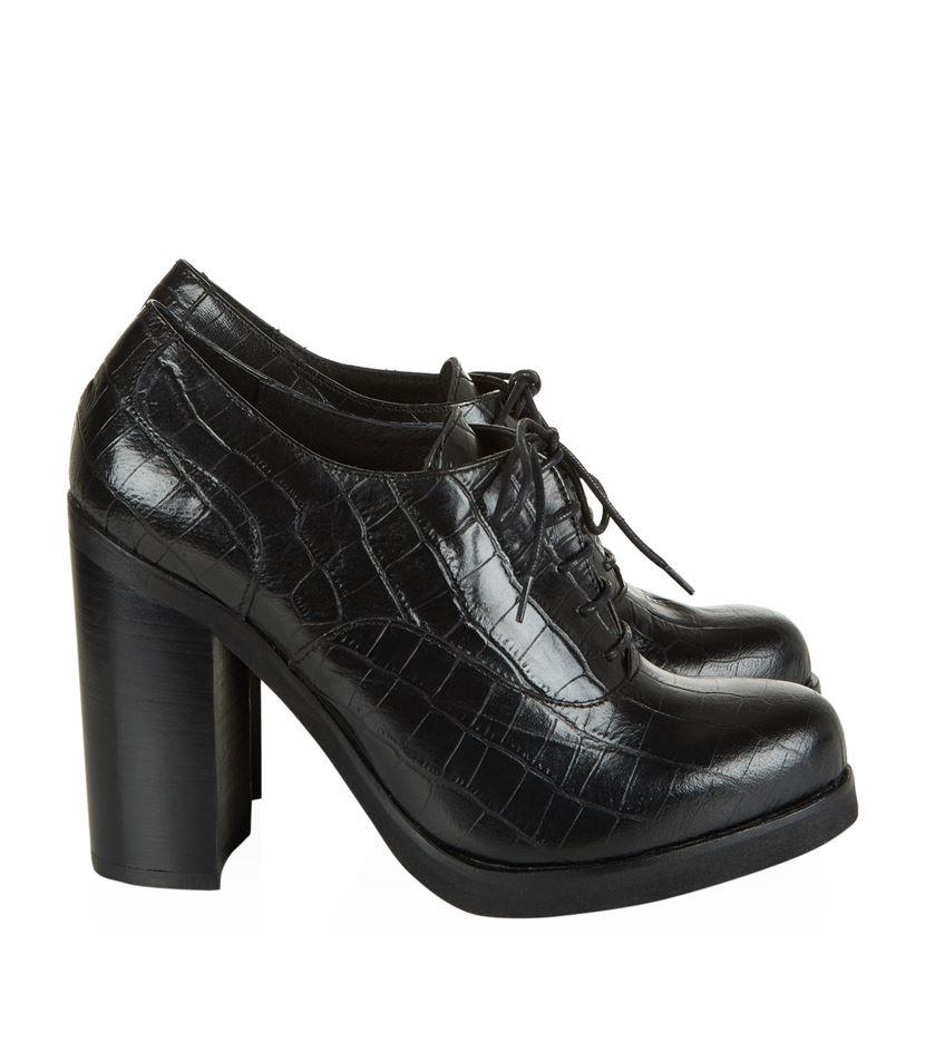 carvela kurt geiger alfred crocodile print leather shoe