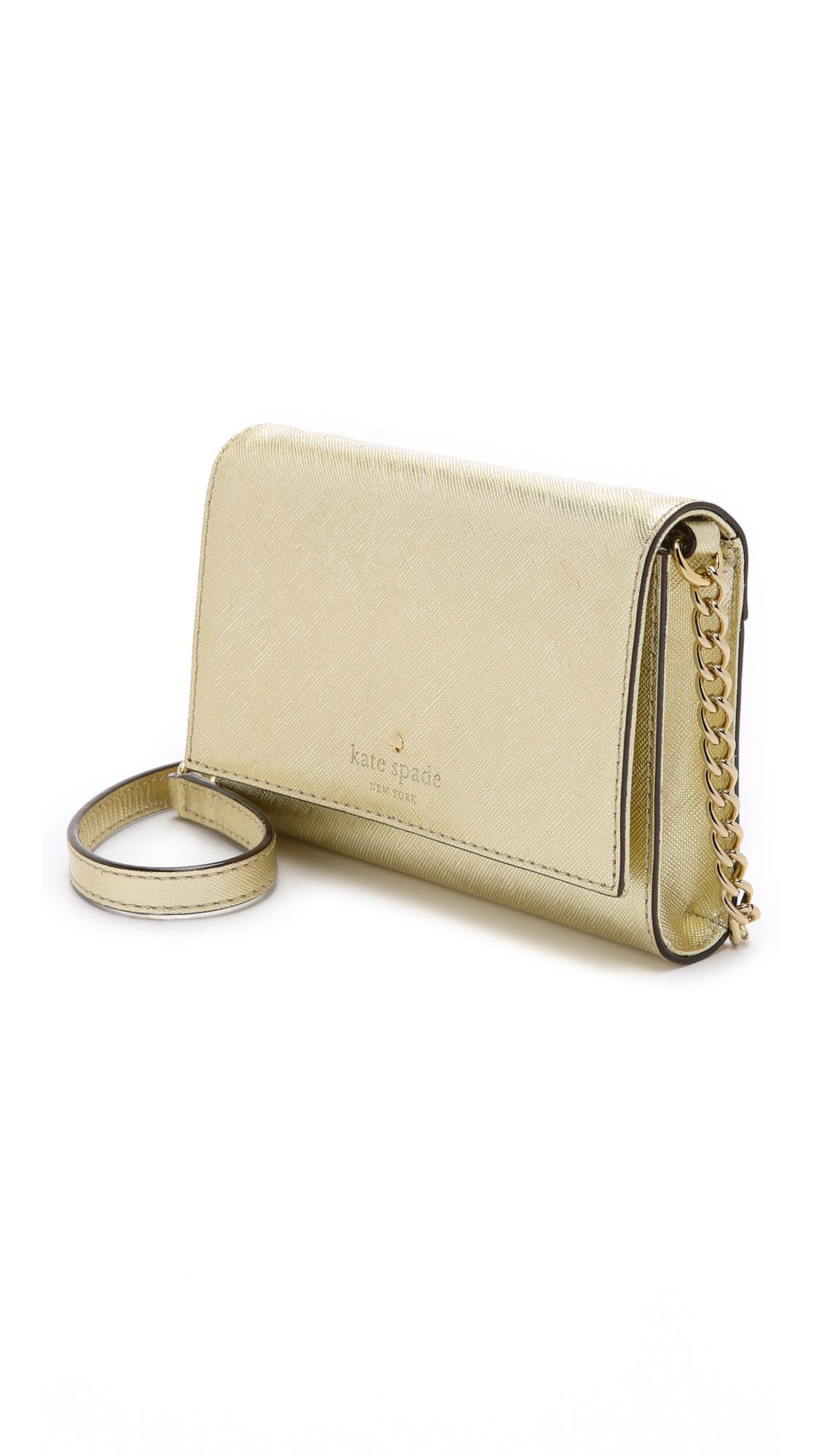 Metallic Cami Cross Body Bag Gold