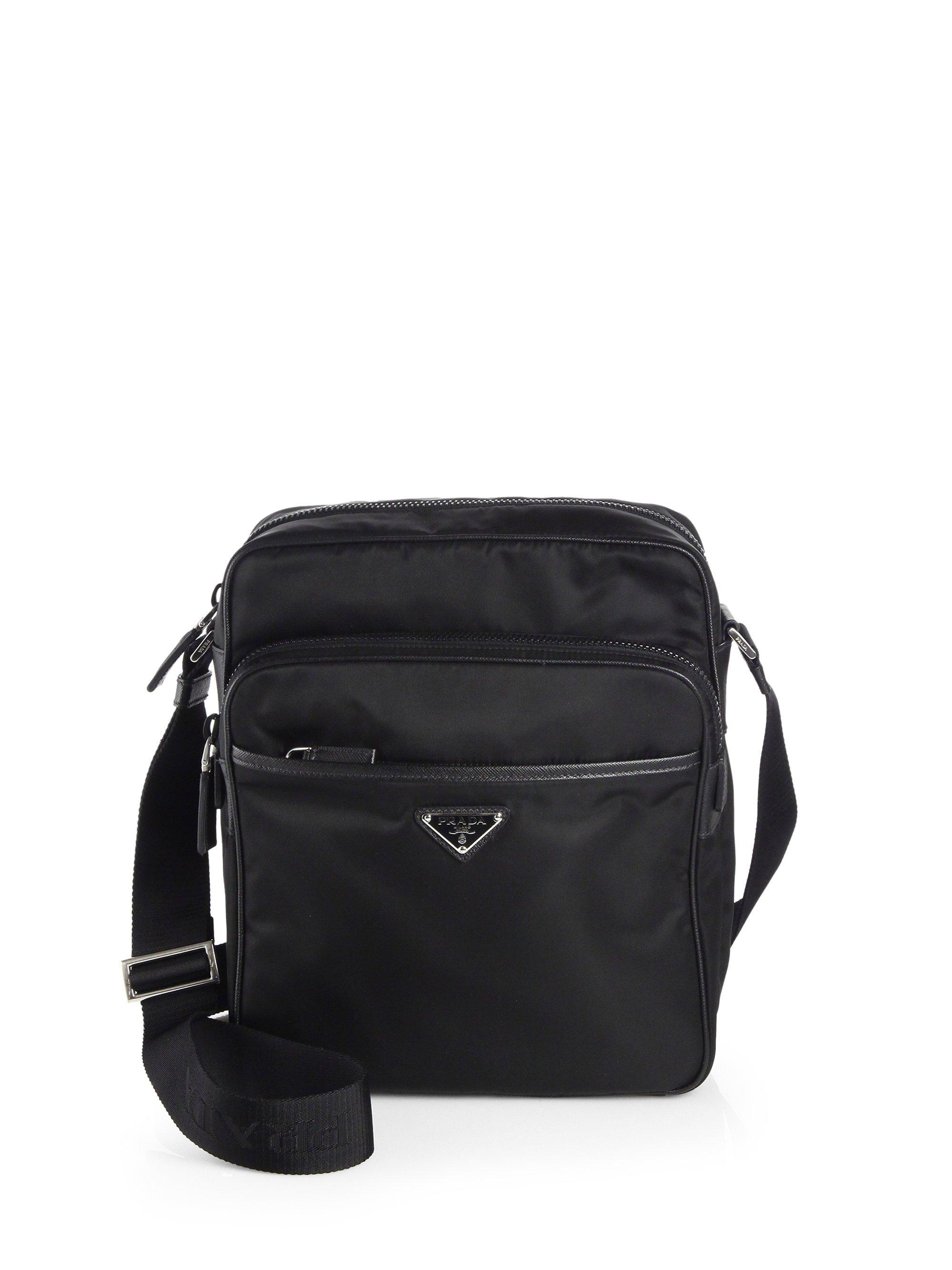 Prada Nylon Camera Bag In Black For Men Lyst