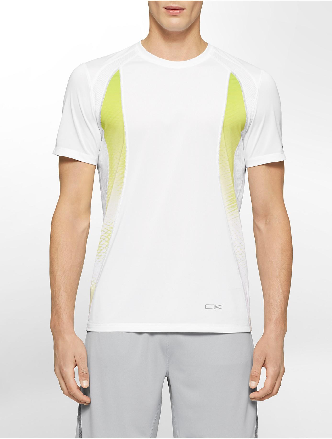 8104765ba Lyst - Calvin Klein Performance Classic Fit Gradient Print Mesh T ...
