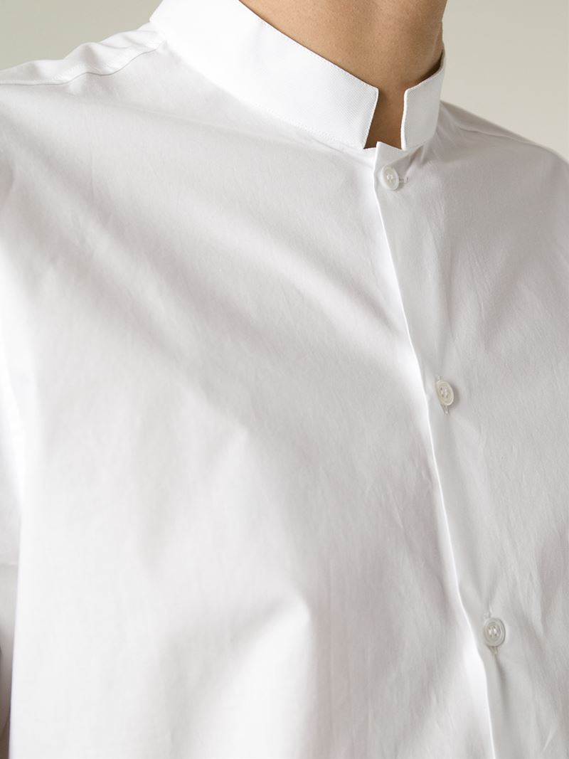 Lyst Ditions Mr Stand Up Collar Shirt In White For Men