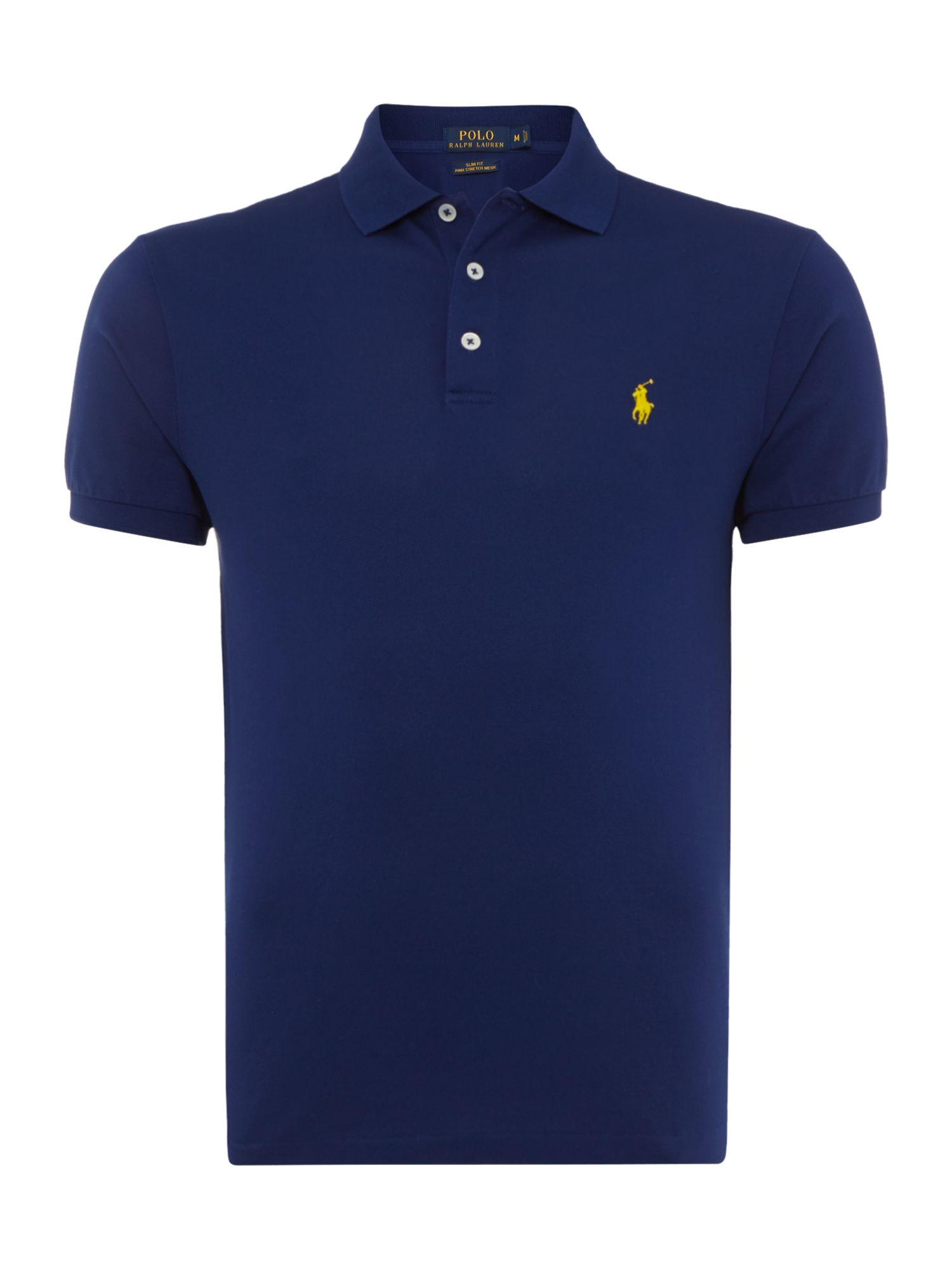 polo ralph lauren slim fit stretch mesh polo shirt in blue. Black Bedroom Furniture Sets. Home Design Ideas