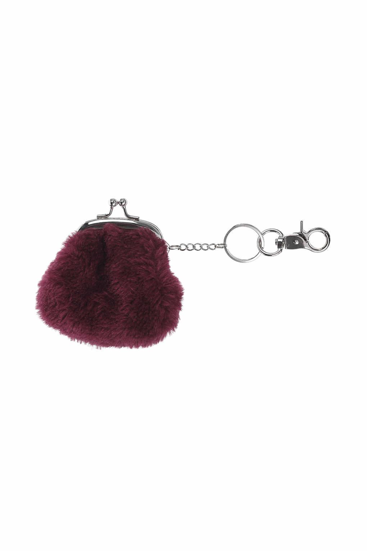 2125d562b1b5 Lyst - Topshop Fluffy Purse Keyring in Purple