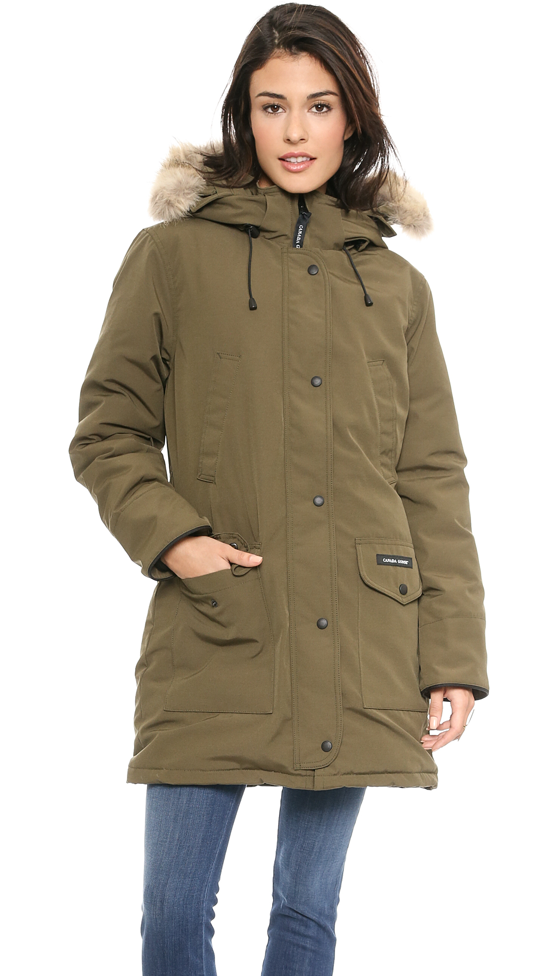 Canada Goose hats online 2016 - Canada goose Trillium Parka - Black in Green (Military Green) | Lyst