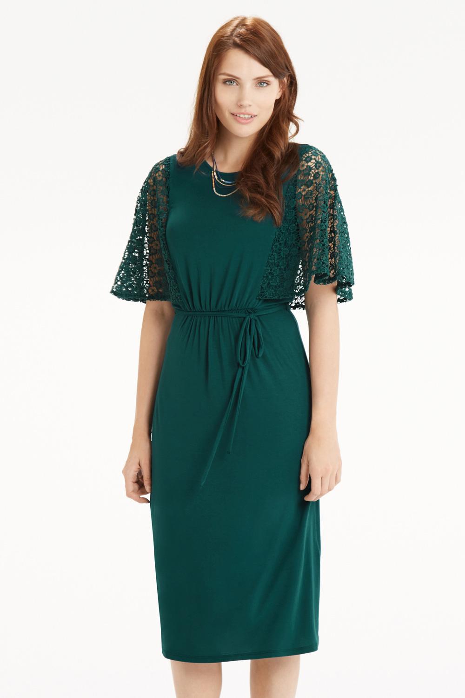 Oasis blue lace midi dress