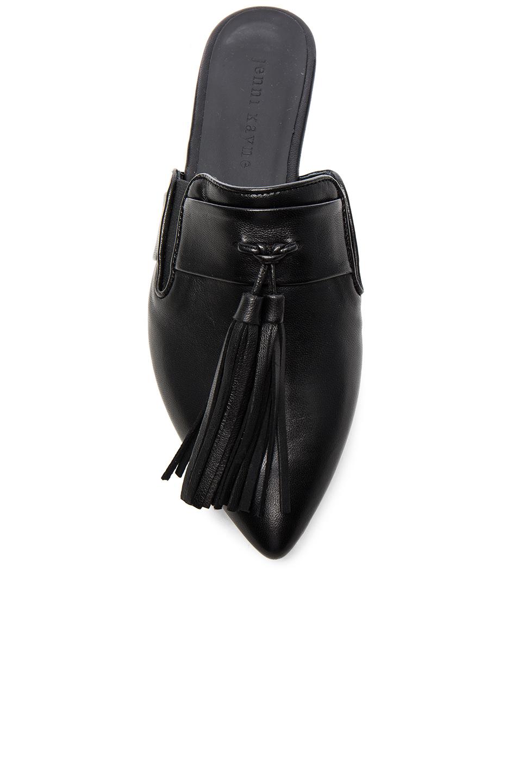 Lyst Jenni Kayne Leather Tassel Mules In Black