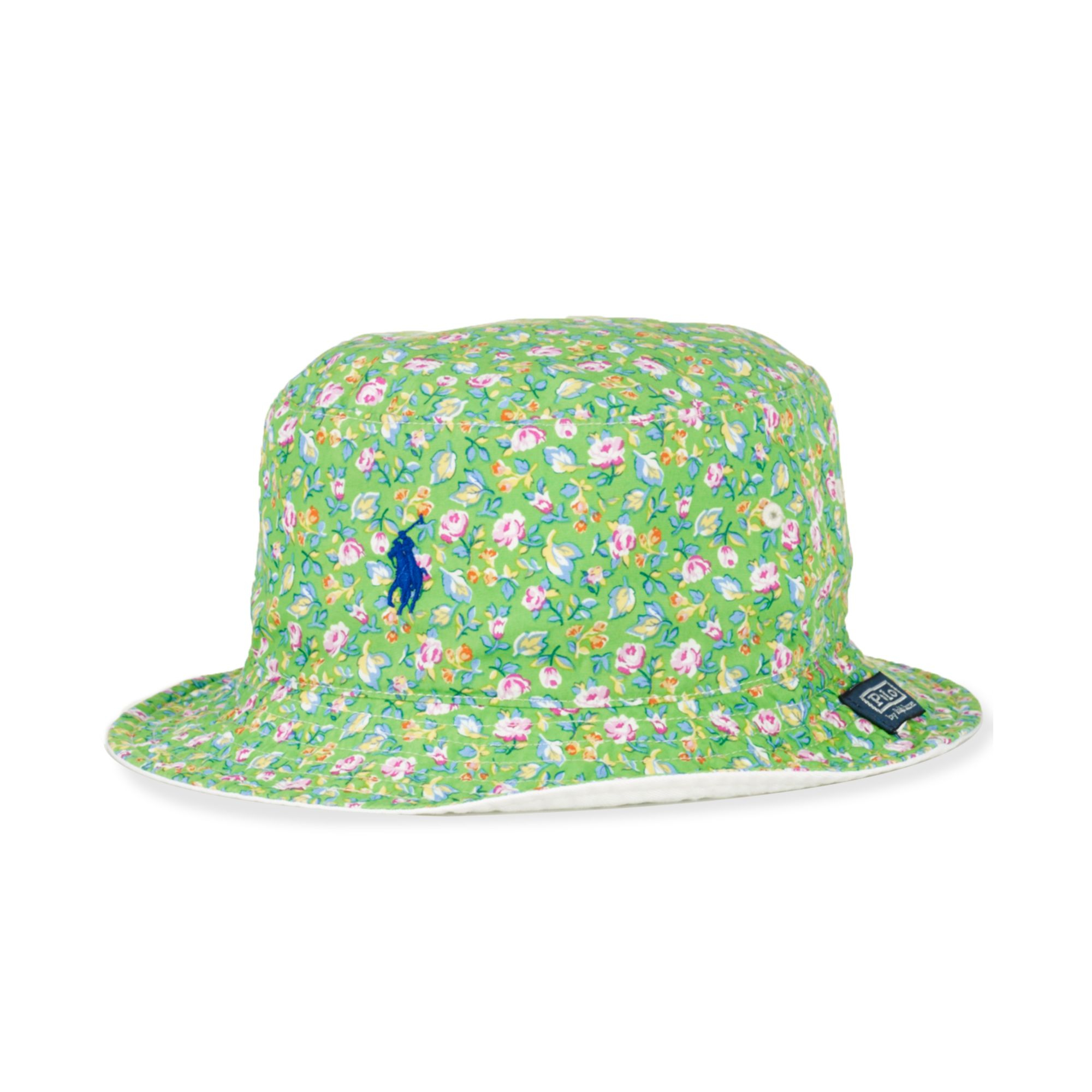 392cb266988 Lyst Ralph Lauren Polo Big And Tall Reversible Bucket Hat In Green