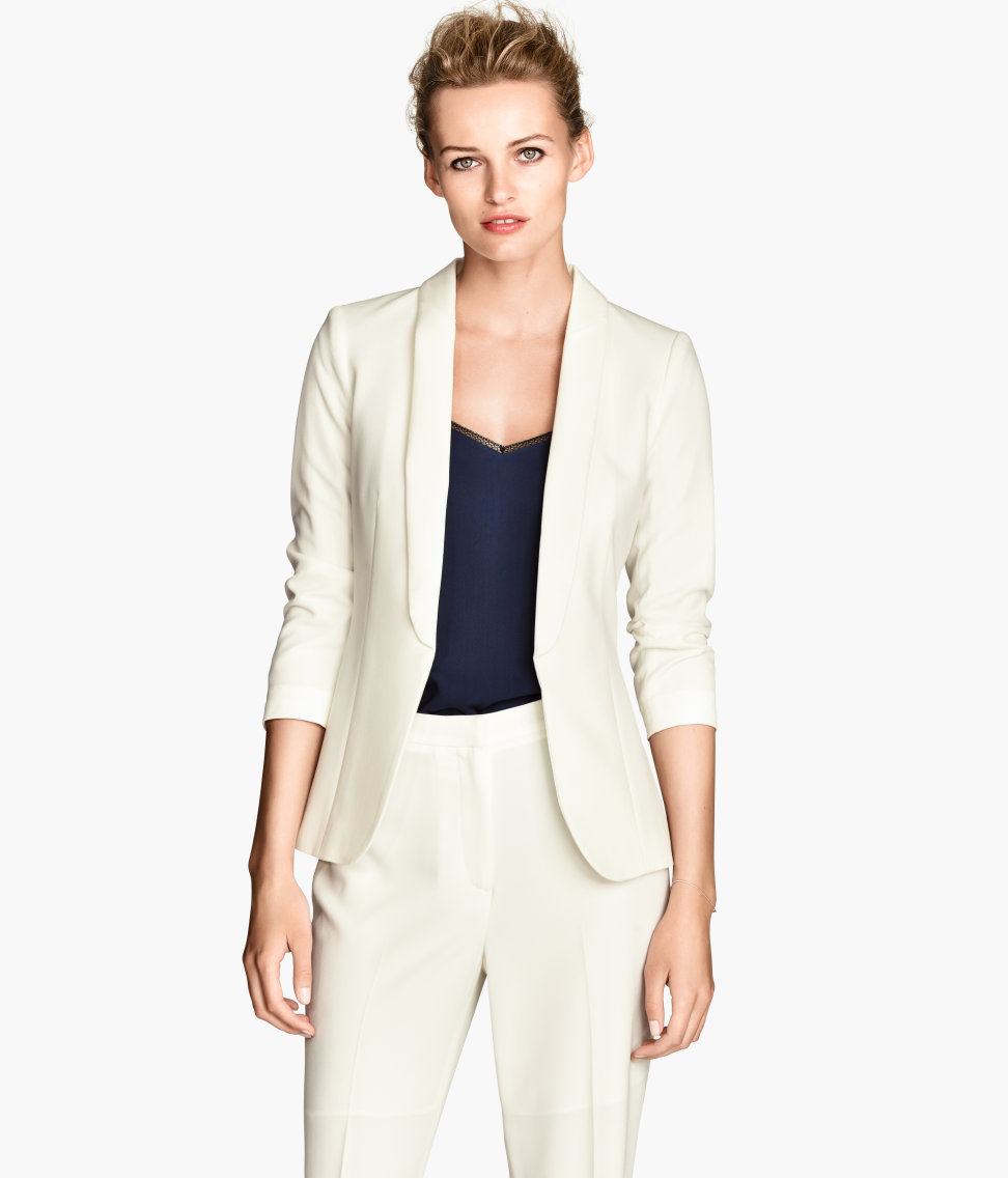 Lyst - H M Dinner Jacket in White cd1428365