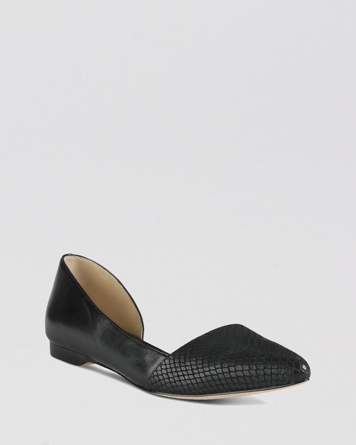 7daba9fb8a3 Lyst - Cole Haan Pointed Toe D Orsay Flats - Amalia in Black