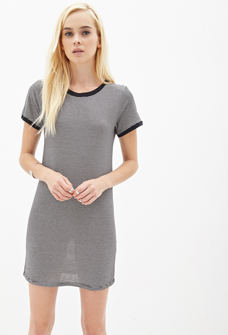 14e1070dfb8 Striped T Shirt Dress Forever 21