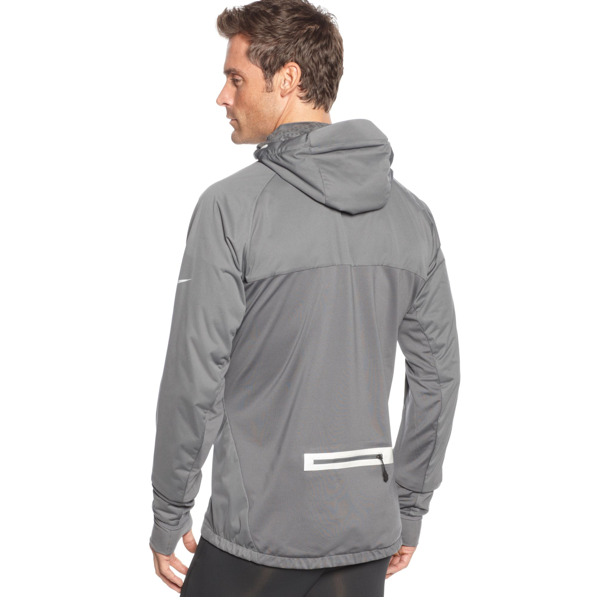 Lyst - Nike Element Shield Max Hooded Jacket in Gray for Men c6e0fad69c22