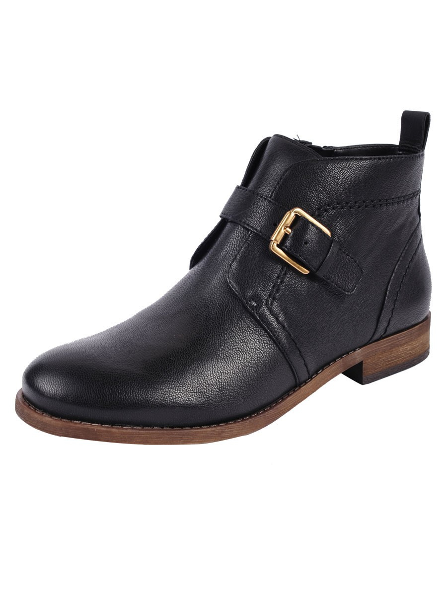 franco sarto kindra leather ankle boots in black lyst