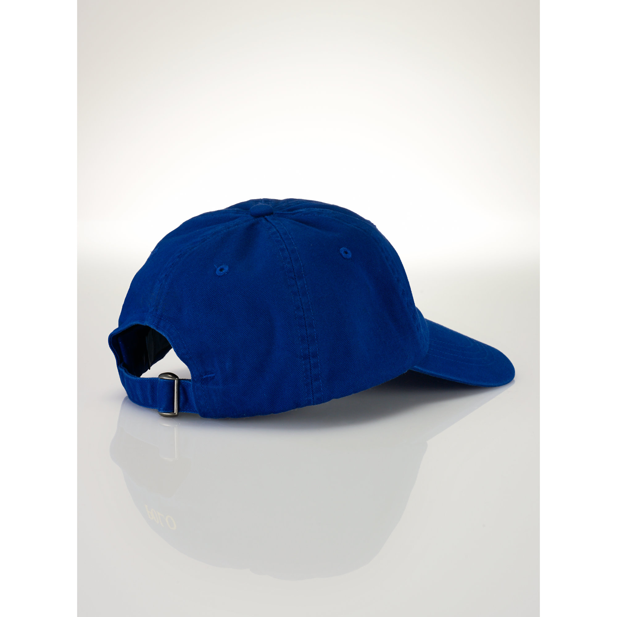 polo ralph lauren signature pony cap in blue for men blue. Black Bedroom Furniture Sets. Home Design Ideas