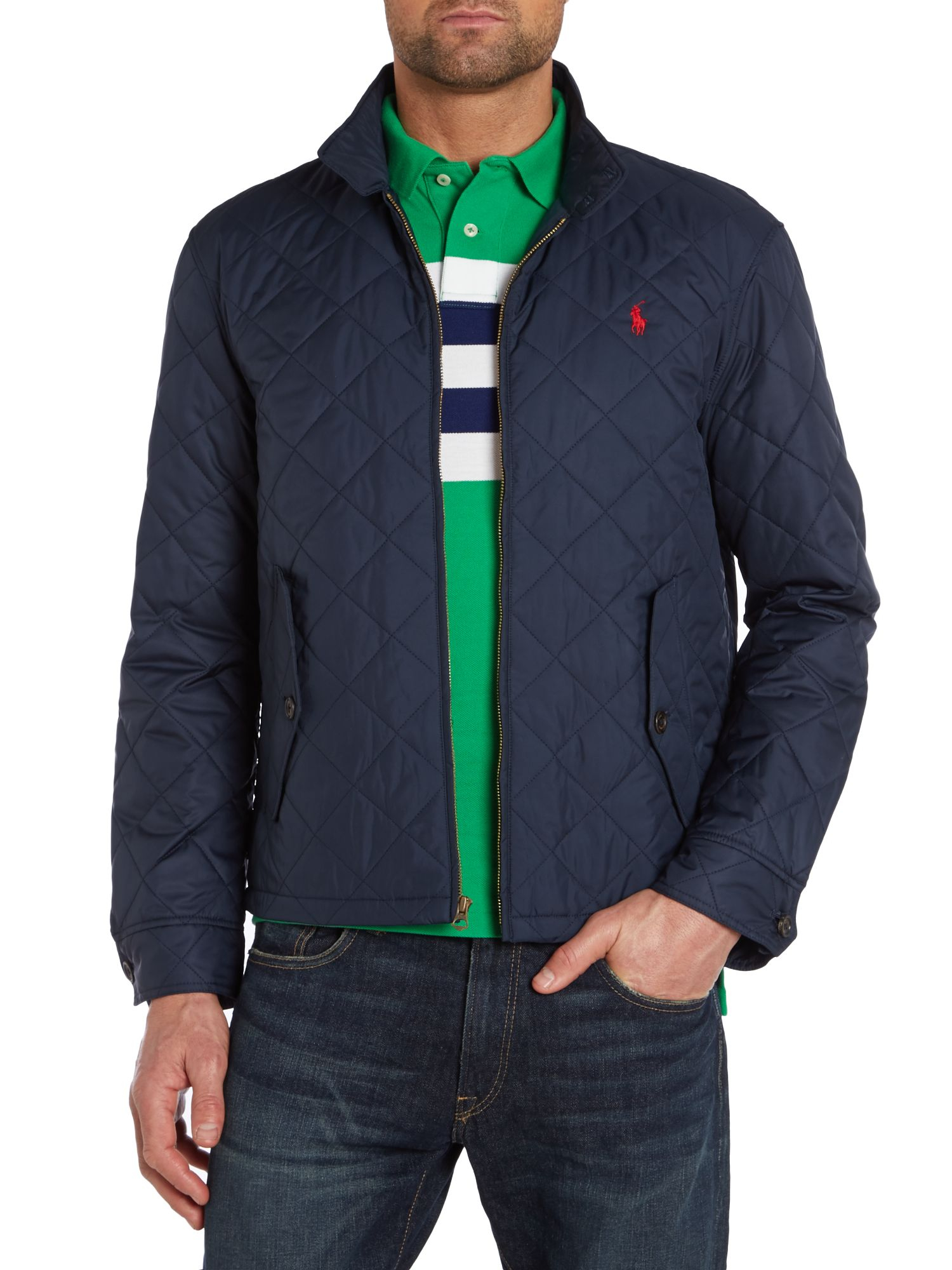 Lyst Polo Ralph Lauren Barracuda Quilted Jacket In Blue