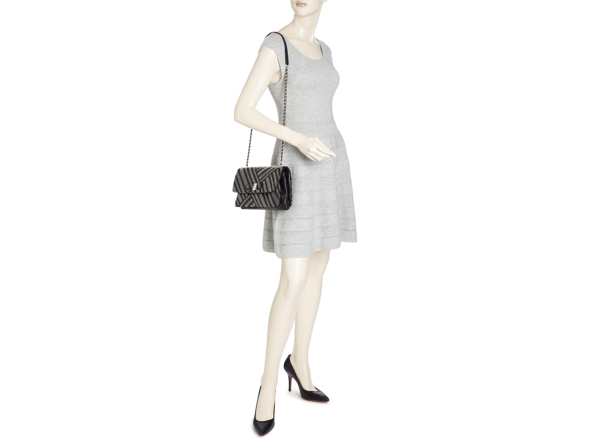 Lyst - Ferragamo Gelly Medium Stud Shoulder Bag in Black 4cd30adb9159e