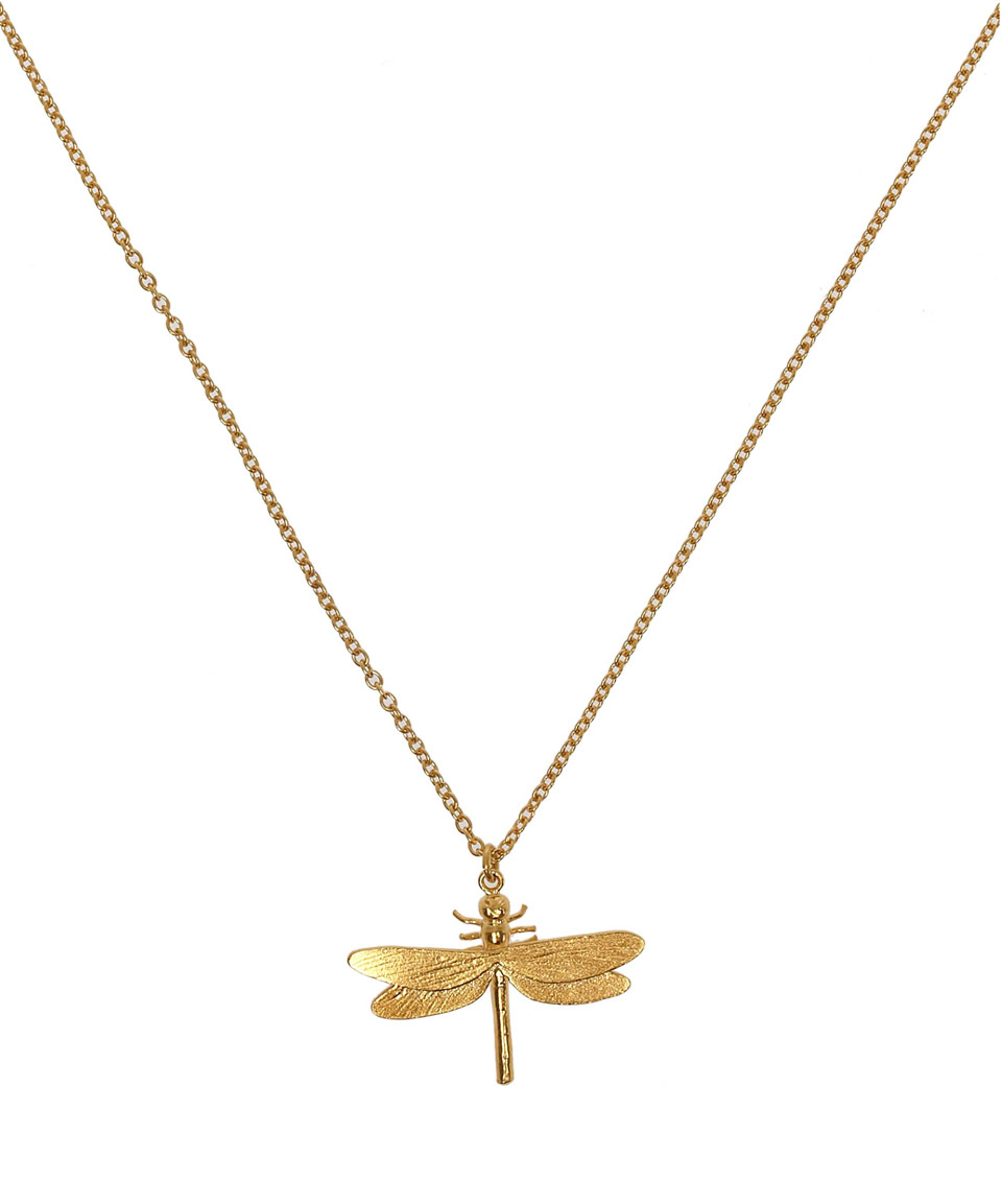 Alex Monroe Gold Plated Dragonfly Necklace In Metallic Lyst