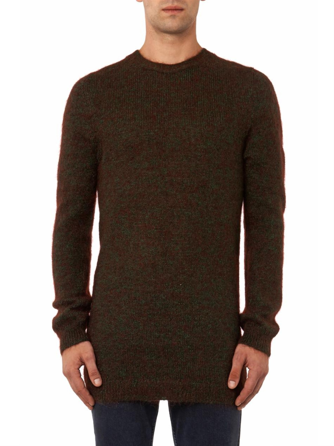 lyst acne studios costa shine melange sweater in brown for men. Black Bedroom Furniture Sets. Home Design Ideas