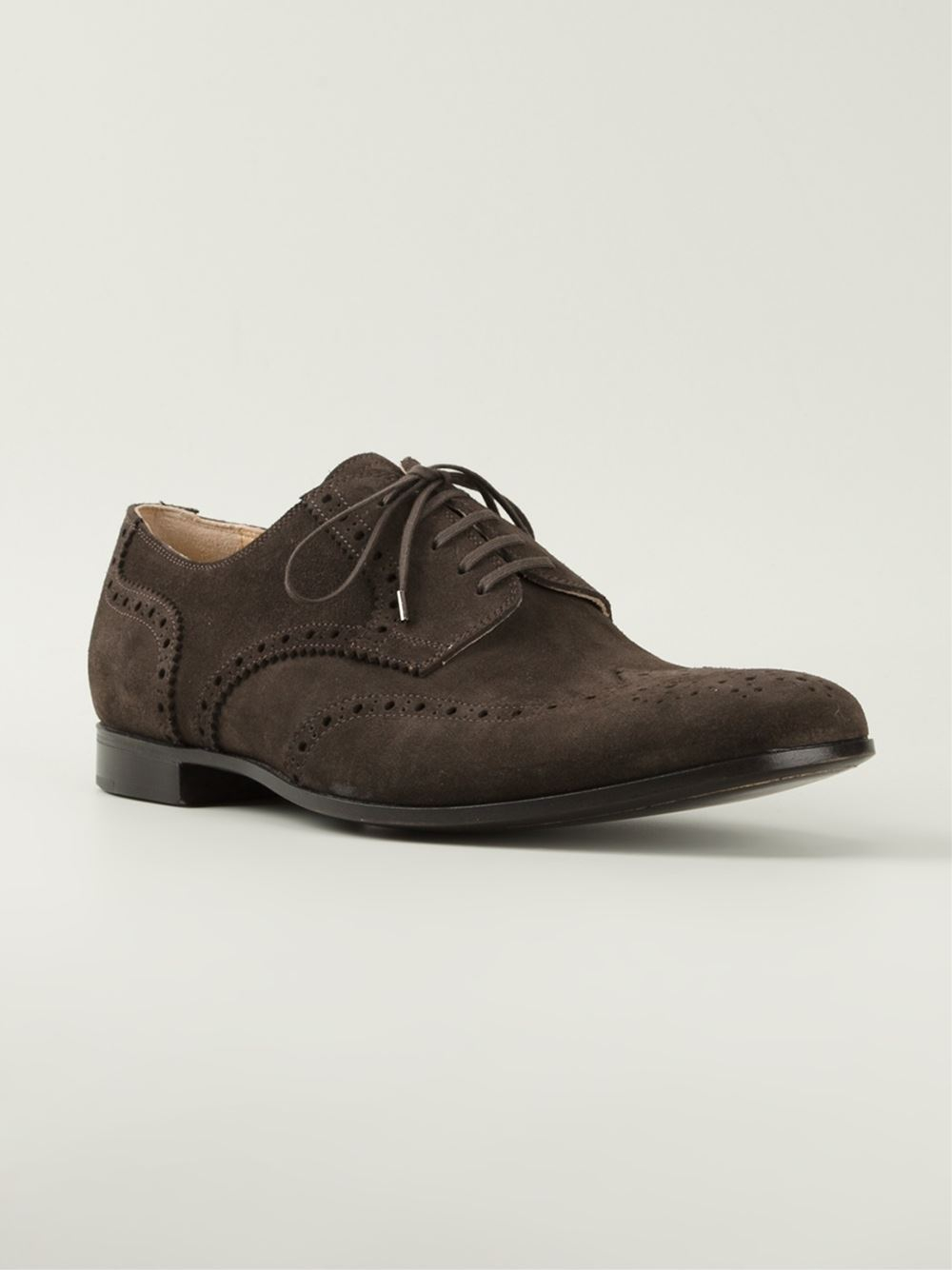 Rocco P Classic Brogue Shoes In Brown For Men Lyst