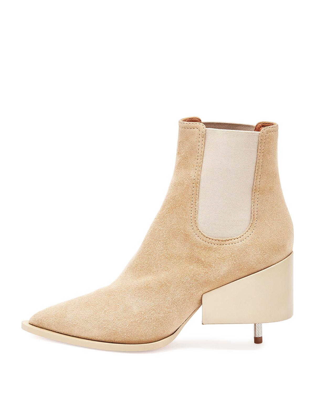 givenchy screw heel suede chelsea boots in beige save 71 lyst. Black Bedroom Furniture Sets. Home Design Ideas