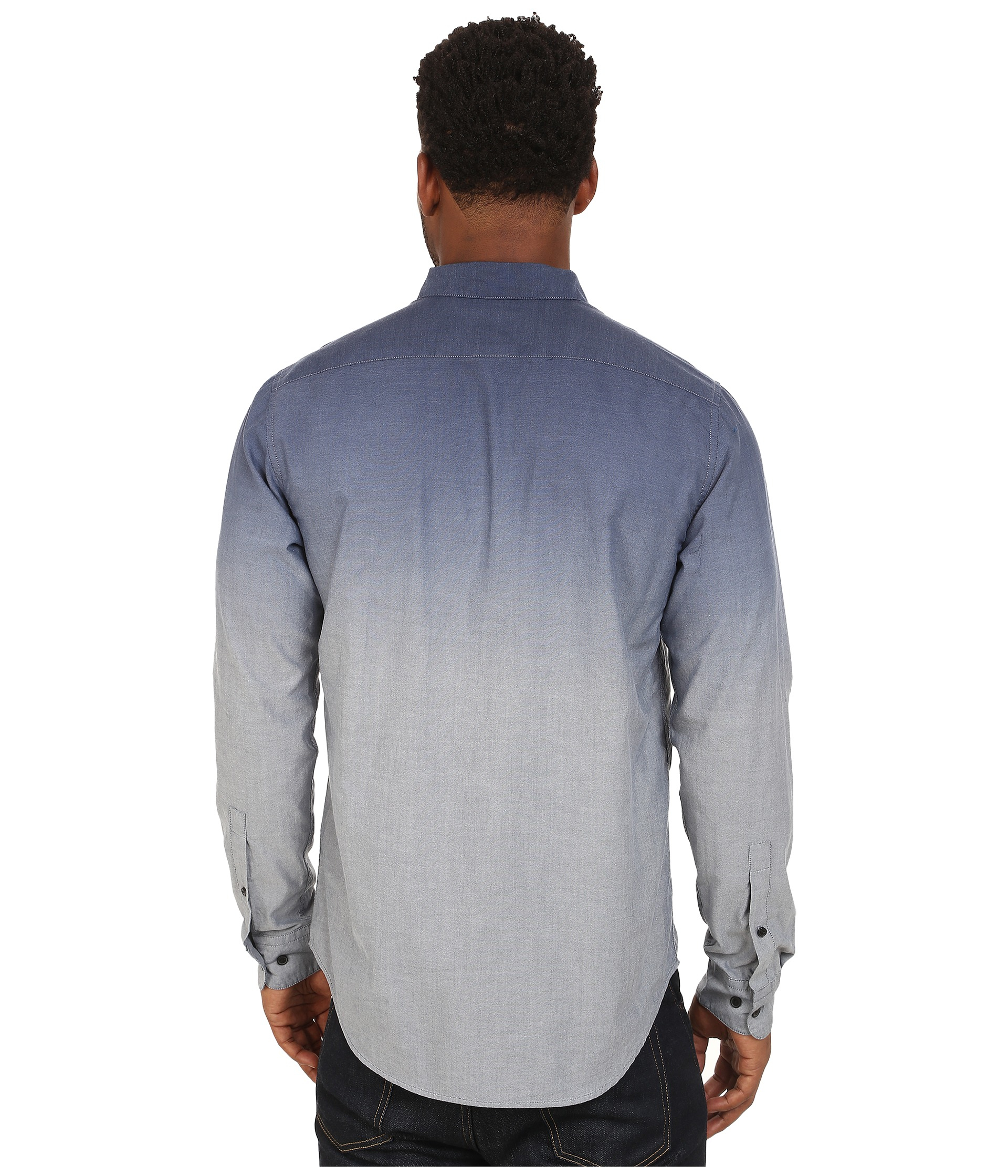 rvca that u0027ll do dip long sleeve shirt in blue for men lyst