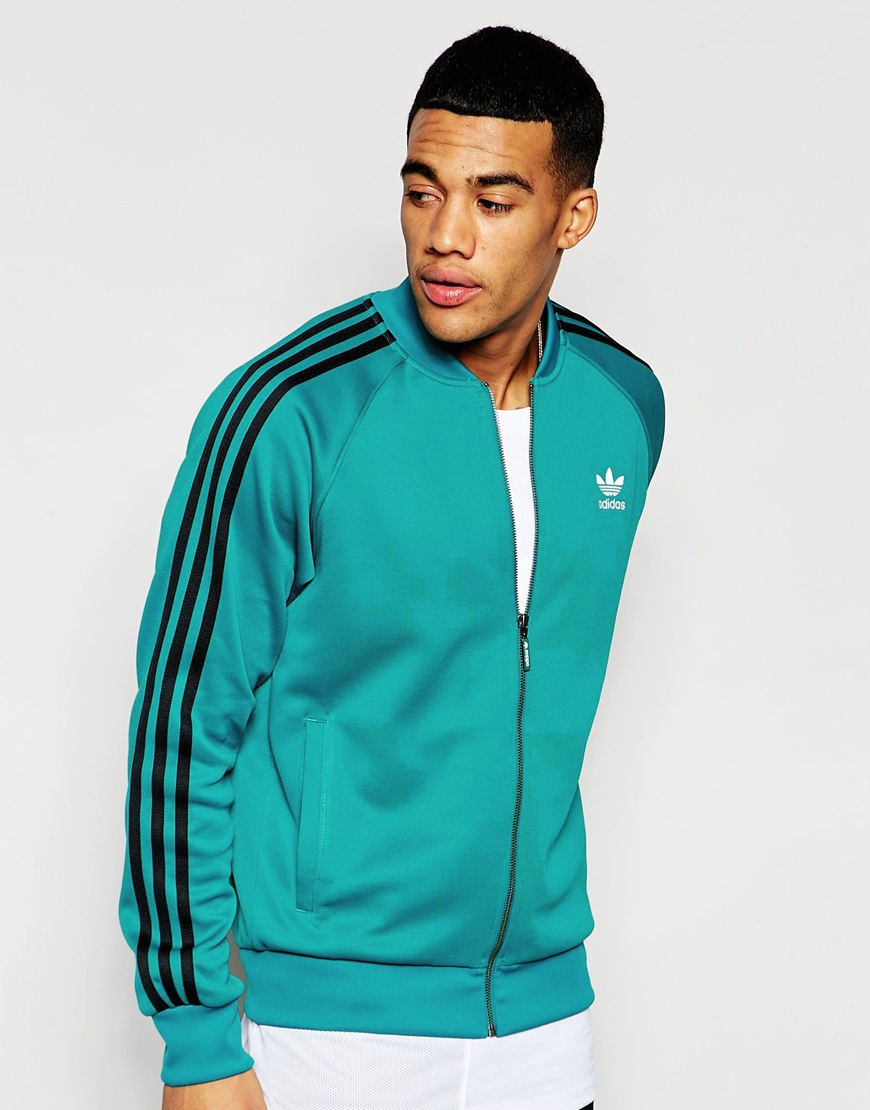 adidas originals superstar track jacket aj7001 in green. Black Bedroom Furniture Sets. Home Design Ideas