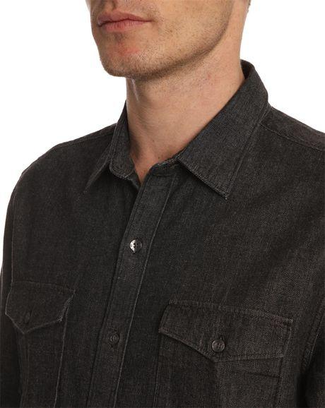 Black Levi Shirt Levi's Black Denim Shirt